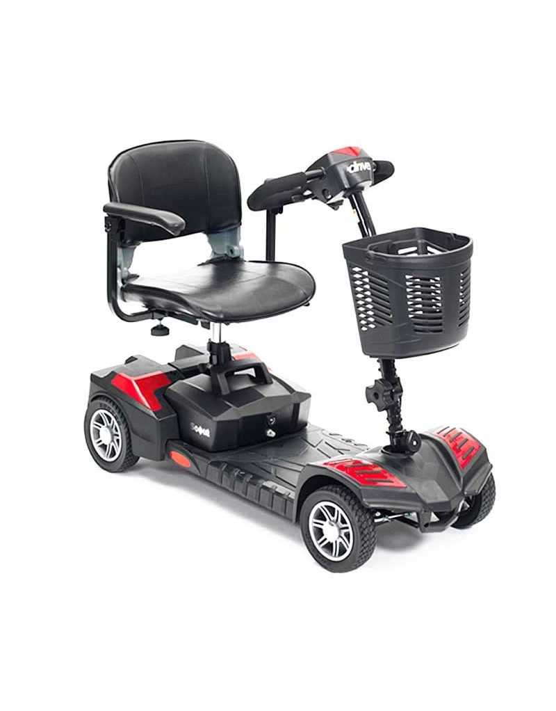 DRIVE Scout 4 Ruedas (baterías de 20 amperios hora) scooter de movilidad en rojo