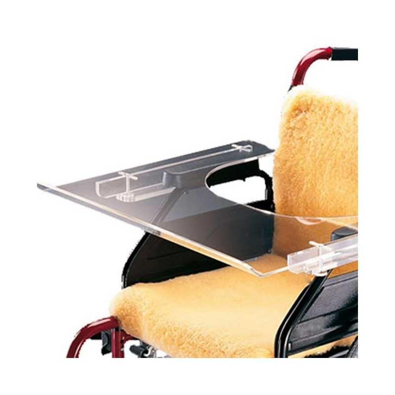 AYUDAS DINÁMICAS Mesita transparente accesorio para sillas de ruedas
