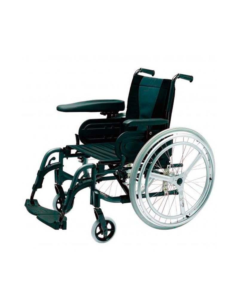 Silla de ruedas en aluminio INVACARE Action 3 Doble Aro Hemiplejia Izquierda