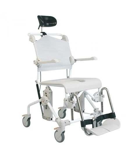 Silla de ducha basculante, higiene y WC. Mobile Tilt. Silla con ruedas. ADAS