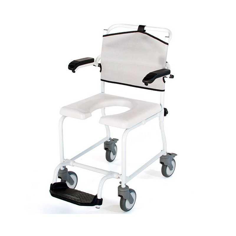 Silla de ducha con ruedas y WC. Levina new. ADAS
