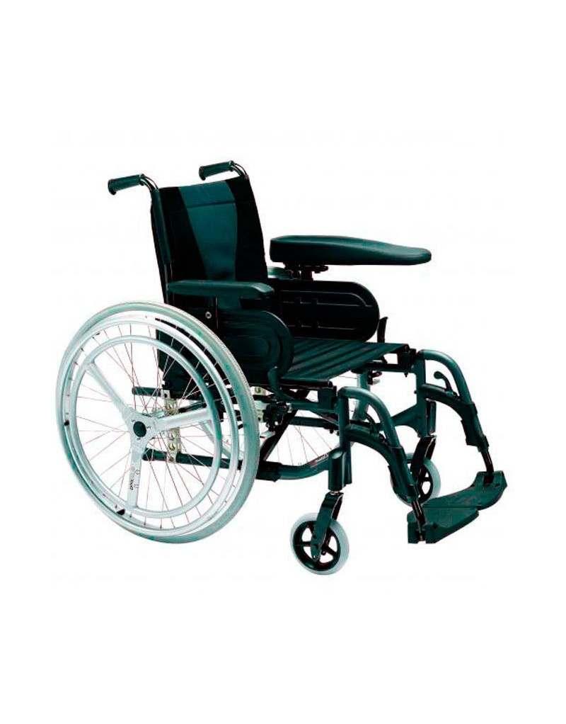 Silla de ruedas en aluminio invacare action 3 doble aro hemiplejia - Sillas de ruedas estrechas ...