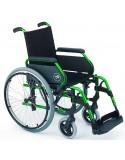 Silla de ruedas en aluminio SUNRISE Breezy 300 respaldo Standar ruedas traseras grandes