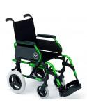 Silla de ruedas en aluminio SUNRISE Breezy 300 respaldo Standar ruedas traseras pequeñas