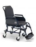 Silla de ruedas en acero con inodoro SUNRISE Breezy Home ruedas traseras pequeñas y respaldo fijo 3002A