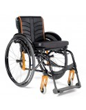 Silla de ruedas en aluminio SUNRISE Quickie Life con reposapiés fijos