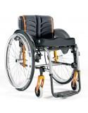 Silla de ruedas en aluminio SUNRISE Quickie Life R con reposapiés fijos