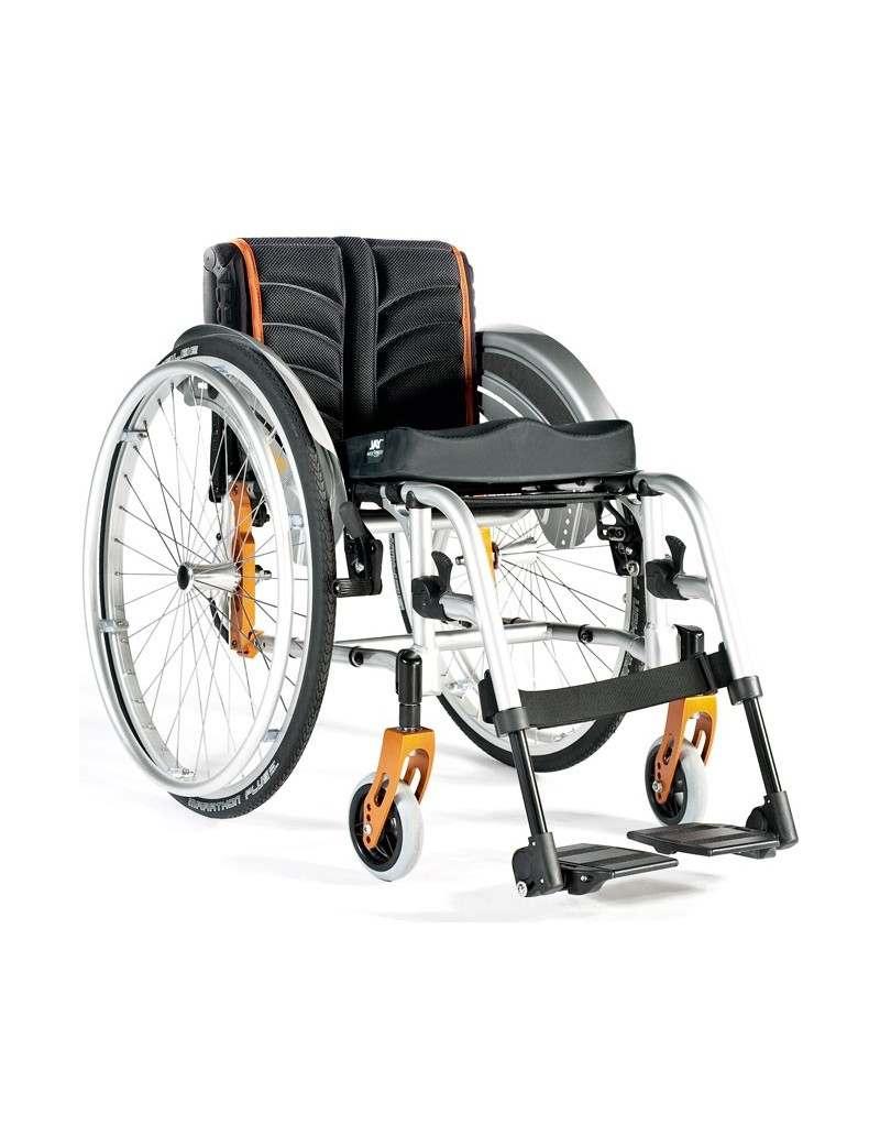 Silla de ruedas en aluminio SUNRISE Quickie Life R con reposapiés desmontables