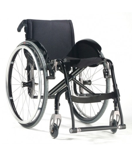SUNRISE Quickie Easy Max silla de ruedas en aluminio con Reposapiés fijos
