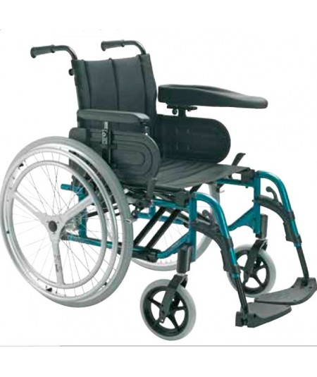 INVACARE Action 4 Doble aro (Hemiplejia) silla de ruedas en aluminio