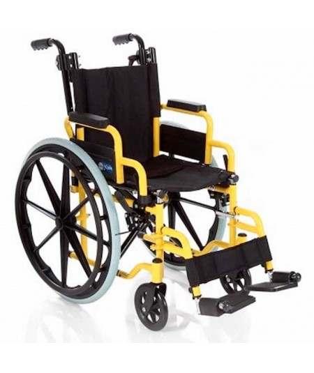 PEDIÁTRICA Silla de ruedas en acero plegable para niños