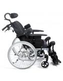 Silla de ruedas en acero INVACARE Clematis posicionamiento