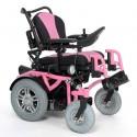 VERMEIREN Springer silla de ruedas eléctrica en rosa