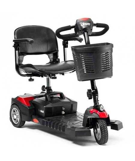 DRIVE Scout 3 Ruedas (baterías de 12 amperios hora) scooter de movilidad en rojo