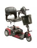 DRIVE Prism 3 Ruedas (baterías de 12 amperios hora) scooter de movilidad en rojo
