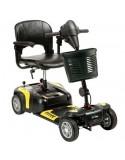 DRIVE Prism 4 Ruedas (baterías de 12 amperios hora) scooter de movilidad en amarillo