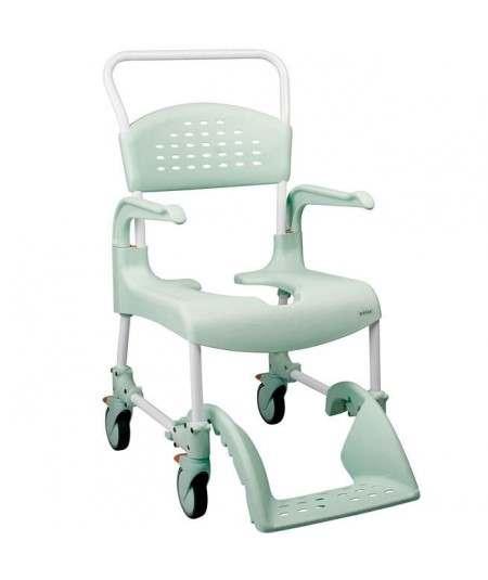 Silla de ducha, higiene y WC Clean. Silla con ruedas. ADAS