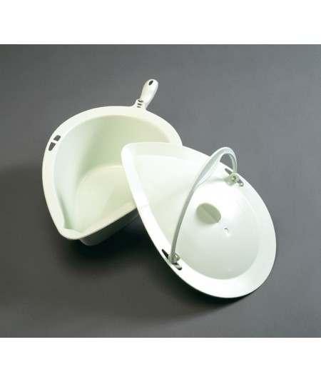 Orinal con tapas, asas y guía ADAS accesorio para silla de ducha y WC Clean