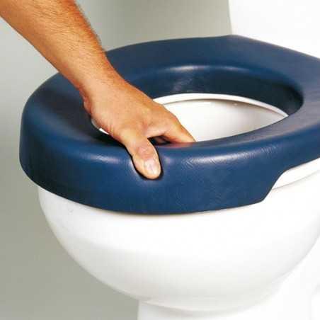 Asiento elevador de wc blando. Blue. ADAS