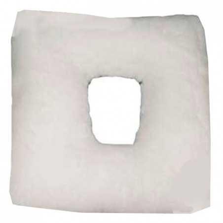 Cojín antiescaras de suapel Sanitized cuadrado con agujero en blanco. UBIO