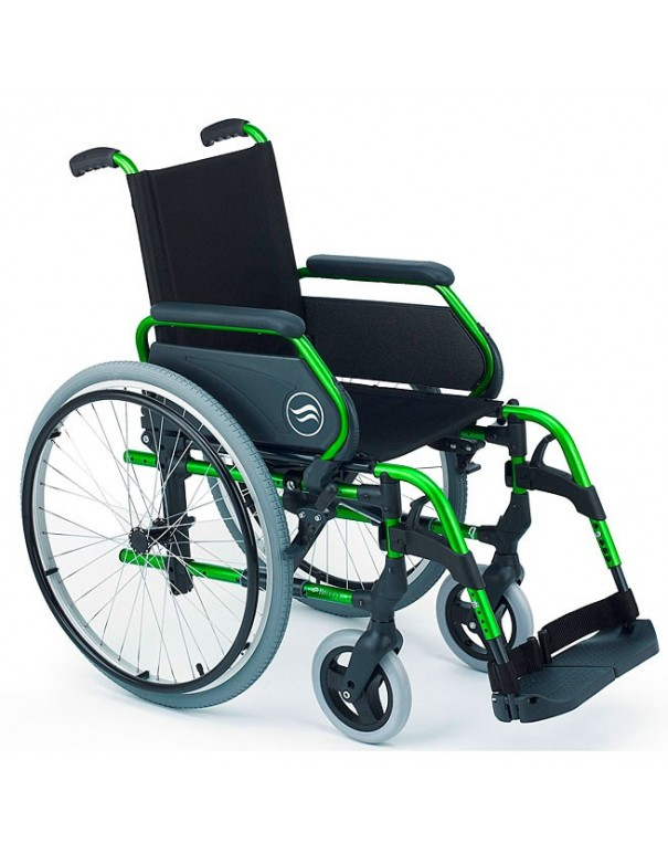 SUNRISE Breezy 305 silla de ruedas en aluminio con respaldo Standar ruedas traseras grandes