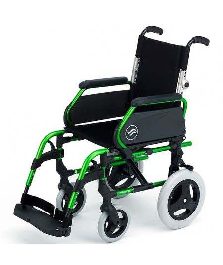 SUNRISE Breezy 300 P silla de ruedas en aluminio con respaldo Partido ruedas traseras pequeñas