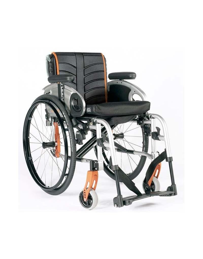 Silla de ruedas en aluminio SUNRISE Quickie Life con reposapiés desmontables