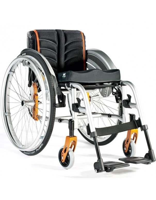 SUNRISE Quickie Life R silla de ruedas en aluminio con reposapiés desmontables. Rígida