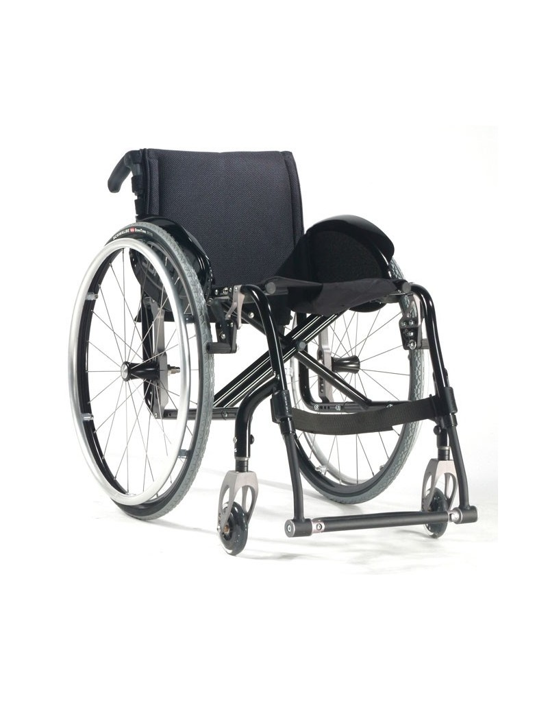 Silla de ruedas en aluminio SUNRISE Quickie Easy Max. Reposapiés fijo