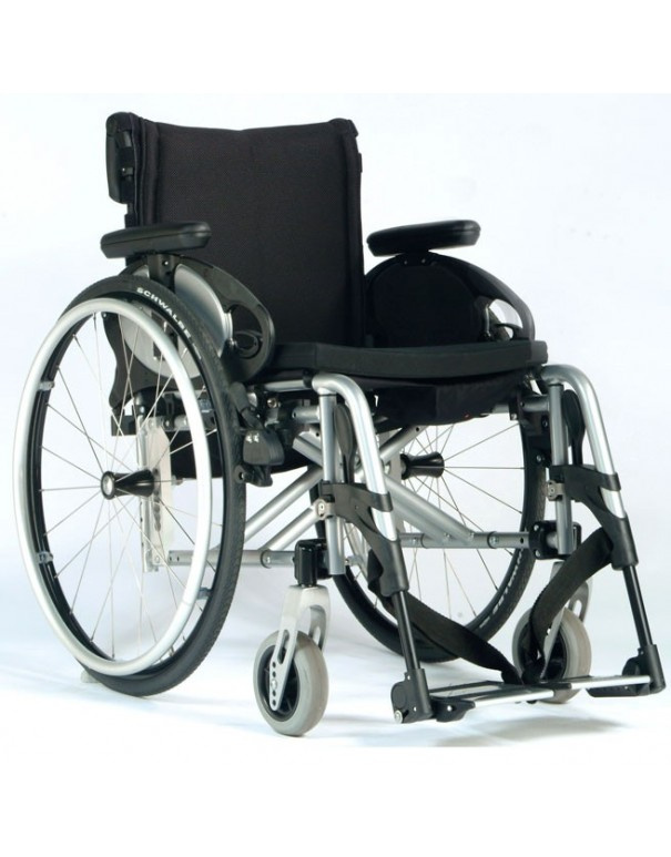 SUNRISE Quickie Easy Max silla de ruedas en aluminio con Reposapiés desmontables