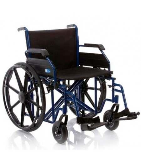 BARIÁTRICA - XL Silla de ruedas en acero plegable para gente de peso