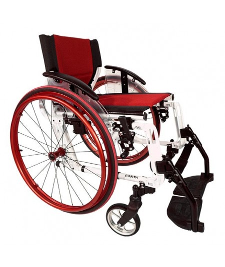 FORTA Sport Line silla de ruedas en aluminio roja