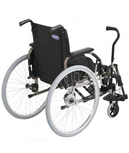Silla de ruedas en aluminio INVACARE Action 4 con palanca conducción (Hemaplejia)