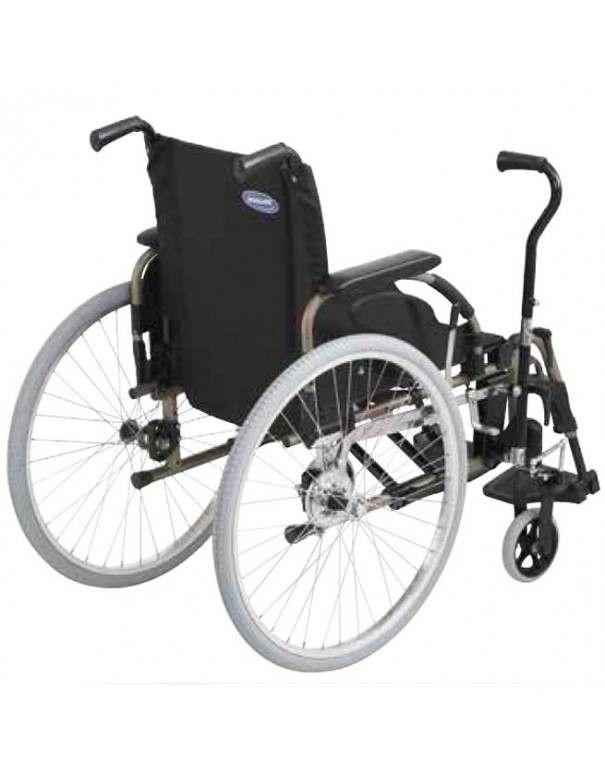 INVACARE Action 4 con palanca conducción (Hemiplejia) silla de ruedas en aluminio