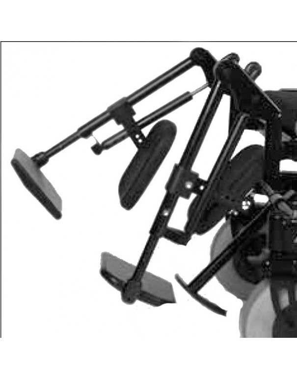 Reposapiés elevables de forma mecánica OTTOBOCK accesorio para silla de ruedas eléctrica B400