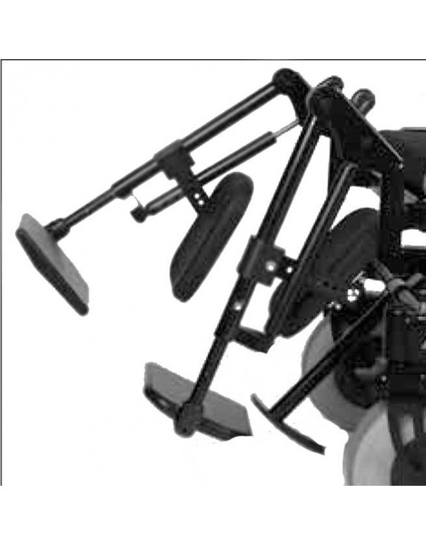 Reposapiés elevables de forma mecánica OTTOBOCK accesorio para silla de ruedas eléctrica B500