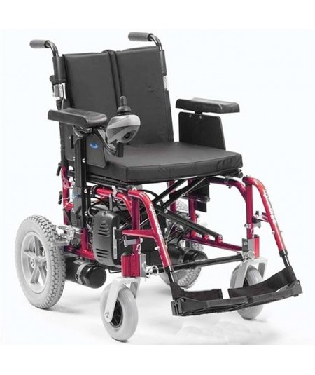 DRIVE Enigma Energi silla de ruedas eléctrica en rojo