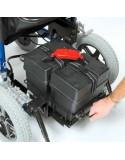 DRIVE Enigma Energi + silla de ruedas eléctrica. Bandeja de fácil cargado batería