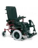 VERMEIREN Navix (tracción delantera) silla de ruedas eléctrica roja