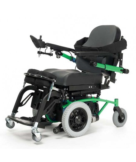 VERMEIREN Navix SU bipedestación silla de ruedas eléctrica en verde
